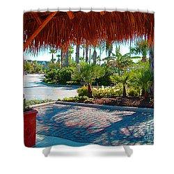 Kemah Boardwalk Shower Curtain