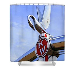 Kenworth Insignia And Swan Shower Curtain