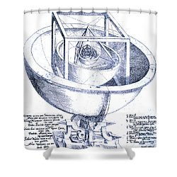 Keplers Planetary Orbit Shower Curtain by Science Source