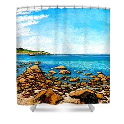 Kettle Cove Shower Curtain by Tom Roderick