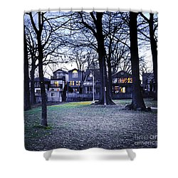 Kew Park At Dusk Shower Curtain by Elena Elisseeva