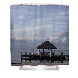 Key Largo Retreat Shower Curtain