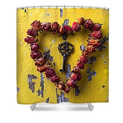 Key To My Heart Shower Curtain by Garry Gay