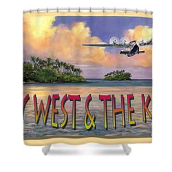 Key West Air Force Shower Curtain