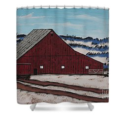 Keystone Farm Shower Curtain by Jeffrey Koss