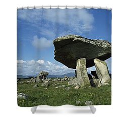 Kilclooney, Co Donegal, Ireland Dolmen Shower Curtain by The Irish Image Collection