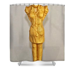 Kilroy Was Here Shower Curtain by Kathleen K Parker