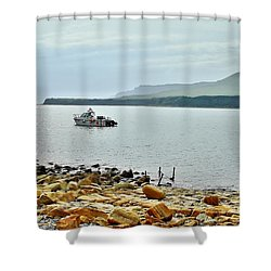 Shower Curtain featuring the photograph Kimmeridge 1 by Katy Mei