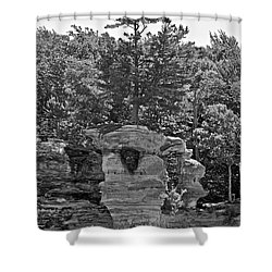 King Of The Hill Pictured Rocks Shower Curtain by Michael Peychich