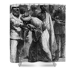 King Riouga And Samuel Baker, 1869 Shower Curtain by Photo Researchers