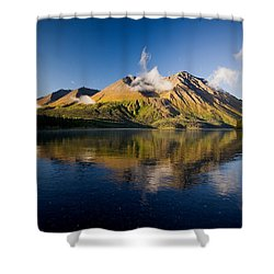 Kings Throne Mountain And Kathleen Shower Curtain by John Sylvester
