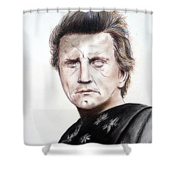 Kirk Douglas In The Vikings Shower Curtain by Jim Fitzpatrick