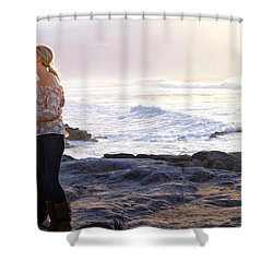 Kissed By The Ocean Shower Curtain