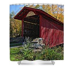 Kissing Bridge 2 Shower Curtain by Steve Harrington