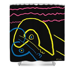 Kissing On The Beach Shower Curtain by Alec Drake