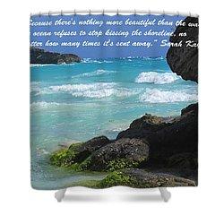 Kissing The Shore Shower Curtain by Ian  MacDonald