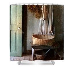 Kitchen Door In Old House Shower Curtain by Jill Battaglia
