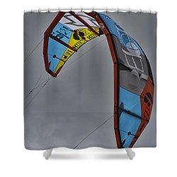 Kite Surfing Shower Curtain by Douglas Barnard