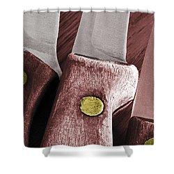 Knives II Shower Curtain by Bill Owen