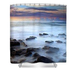 Koloa Dawning Shower Curtain by Mike  Dawson