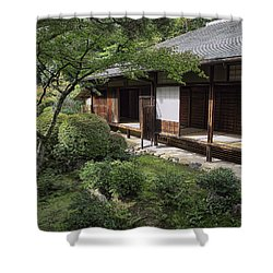 Koto-in Zen Tea House And Garden - Kyoto Japan Shower Curtain by Daniel Hagerman