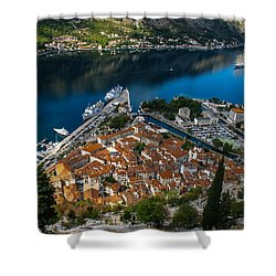 Shower Curtain featuring the photograph Kotor Montenegro by David Gleeson