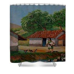 La Dama Del Rio Shower Curtain