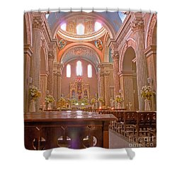 La Iglesia Matriz De Sangolqui Ecuador Shower Curtain
