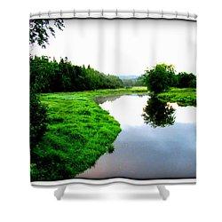 Shower Curtain featuring the photograph Lac St-fer  Quebec by Danielle  Parent