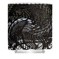 Lacey Abstract2 Shower Curtain by Karen Harrison