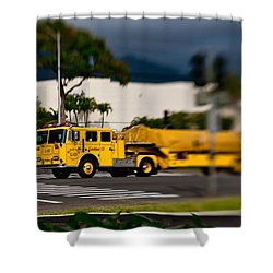 Ladder Truck Shower Curtain by Dan McManus