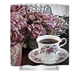 Ladies Tea Time Shower Curtain by Sherry Hallemeier