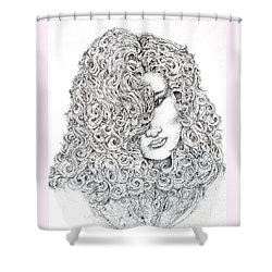 Curls Shower Curtain
