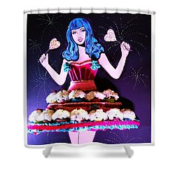 Shower Curtain featuring the photograph Lady In Flowers by Alice Gipson
