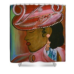 Lady In Pink Shower Curtain by Kelly Turner