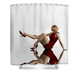 Lady In Red... Shower Curtain