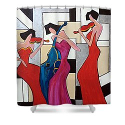 Lady Musicians Shower Curtain