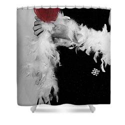 Lady With Heart Shower Curtain by Joana Kruse