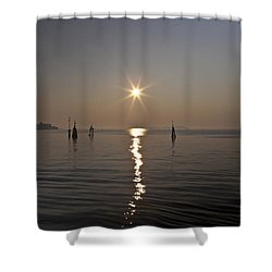 lagoon of Venice Shower Curtain by Joana Kruse