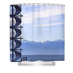 Lake Constance Friedrichshafen Shower Curtain by Joana Kruse