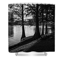 Shower Curtain featuring the photograph Lake Eola Water Edge by Lynn Palmer