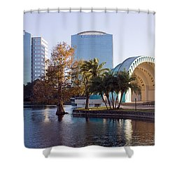 Lake Eola's  Classical Revival Amphitheater Shower Curtain by Lynn Palmer