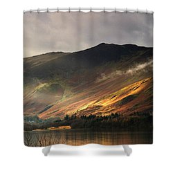 Lake In Cumbria, England Shower Curtain by John Short
