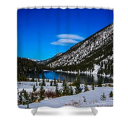 Shower Curtain featuring the photograph Lake In The Mountains by Shannon Harrington