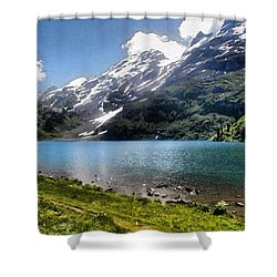 Lake In The Swiss Alps Shower Curtain