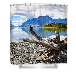 Lake Kathleen In Kluane National Park Shower Curtain by Blake Kent