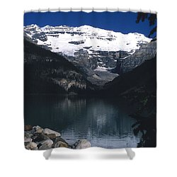 Lake Louise II Shower Curtain by Sharon Elliott