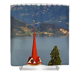 Lake Lucerne Shower Curtain by Brian Jannsen