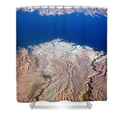 Lake Mead Nevada Aerial Shower Curtain by James BO  Insogna