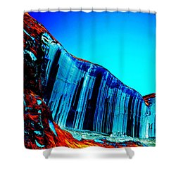 Lake Powell Blue Ice Shower Curtain